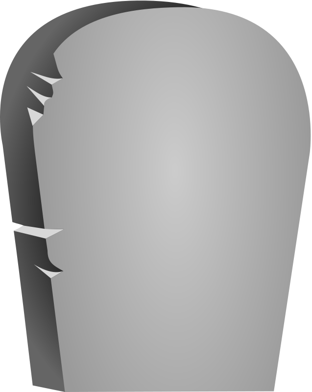 Free Halloween Rounded Tombstone