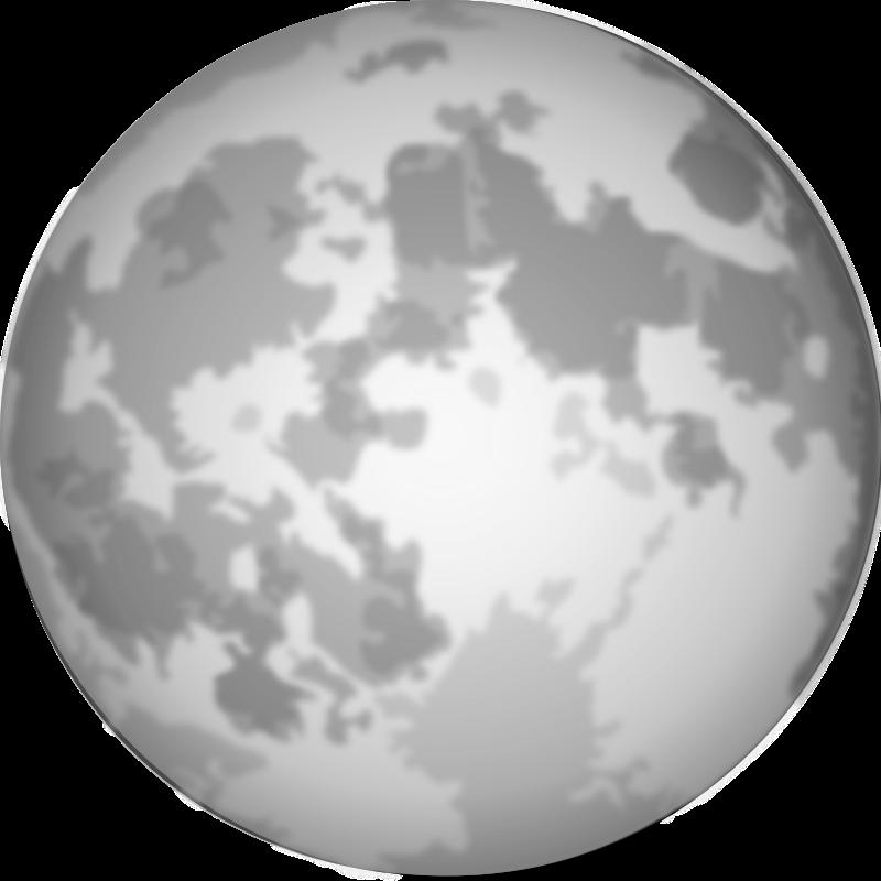 Free Clipart: Halloween Bright Full Moon | cgbug