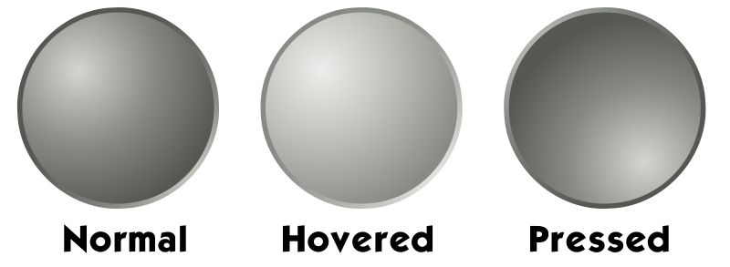 Free Grey web button template