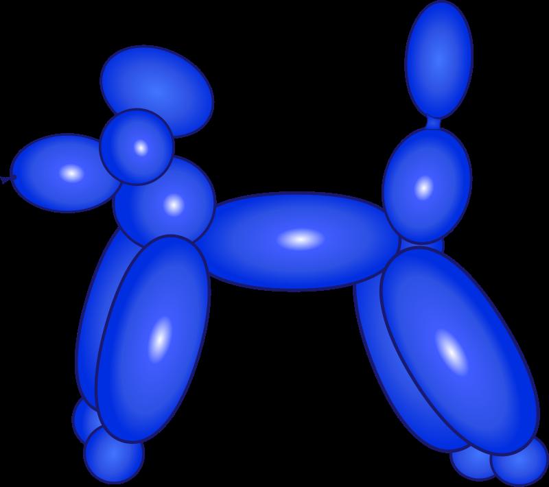 Free Balloon Dog Blue