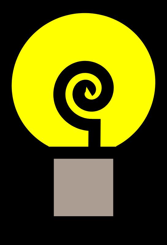 Free Traditional lightbulb (on)