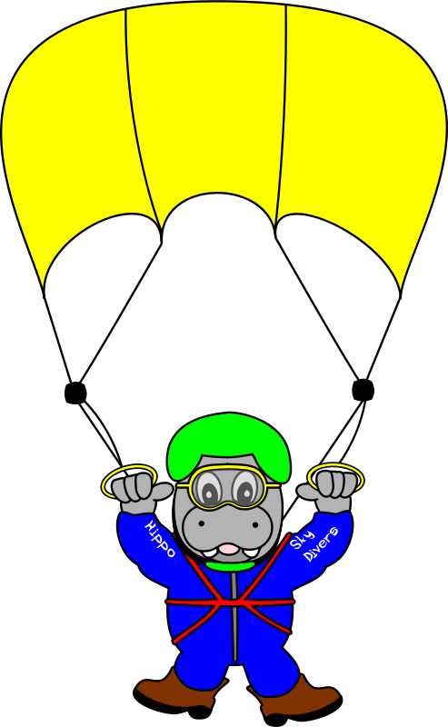 Free Clipart: SkyDiverHippo | TomBrough