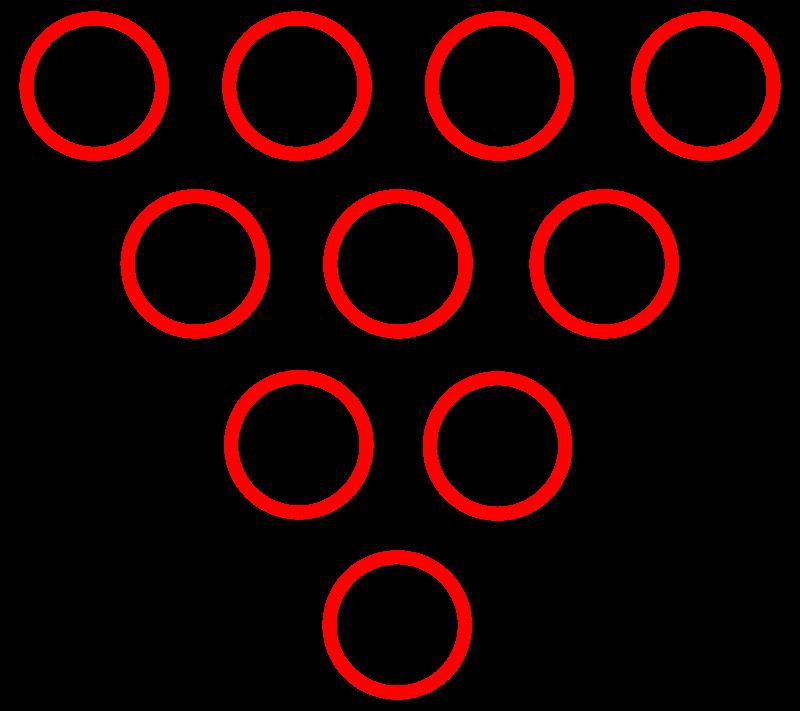 Free Bowling pins diagram.