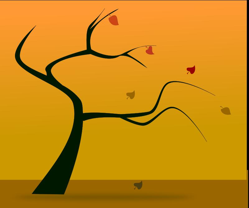 Free fall silhouette 2