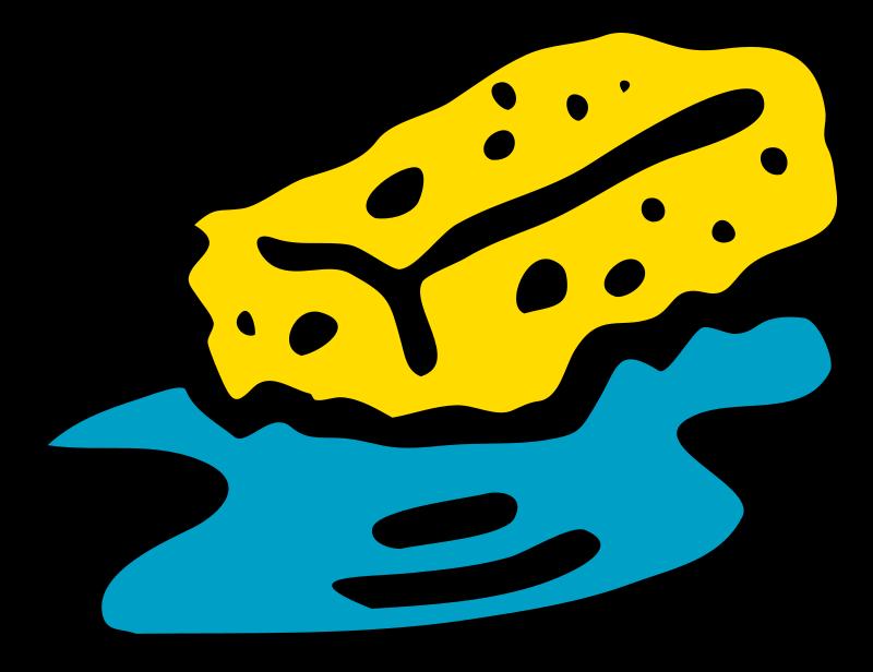 Free Sponge in water