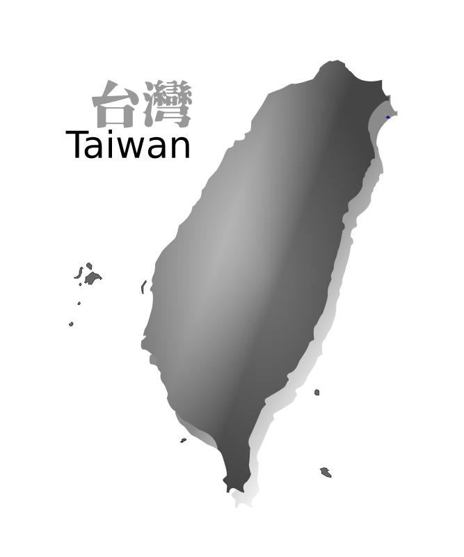 Free Clipart: Taiwan map (R.O.C.) grey ver | moonhan