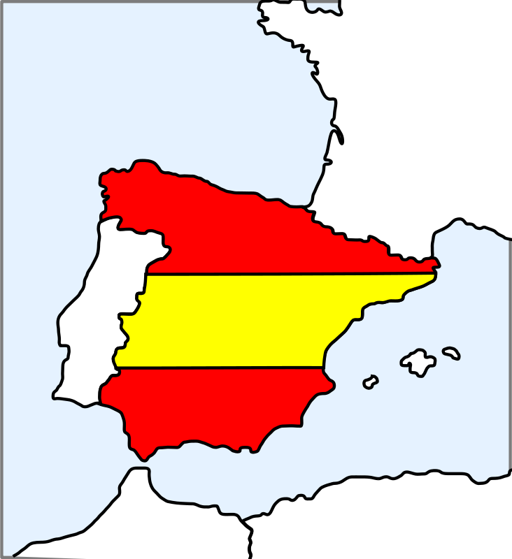 Free Spain (map and flag)