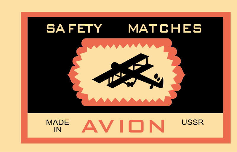Free Clipart: Matchbox label - Avion | rones