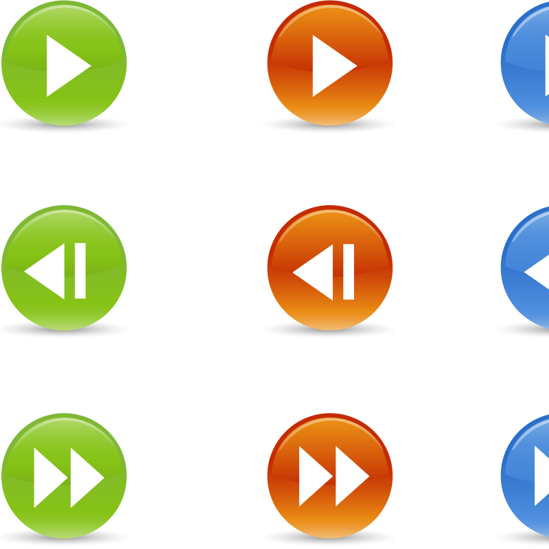 Free Round Buttons Symbols
