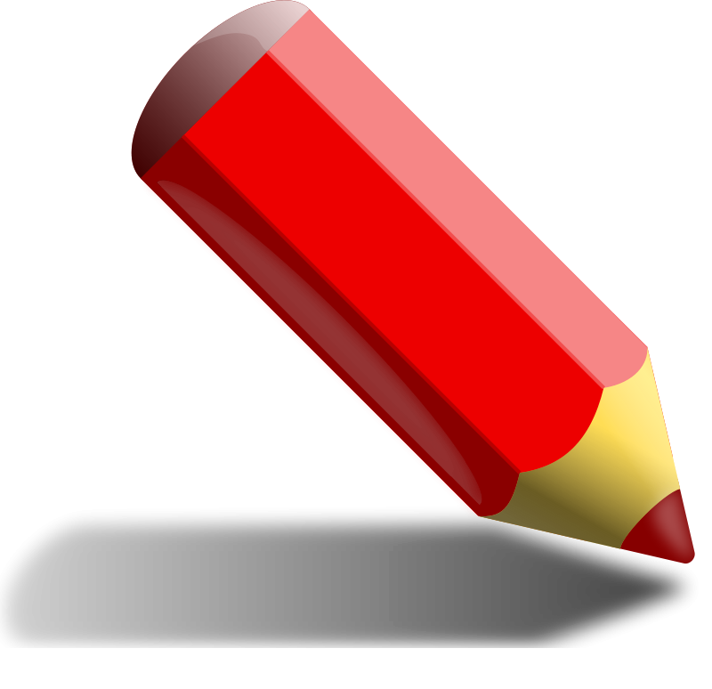 Pencil red. Free clipart binameusl