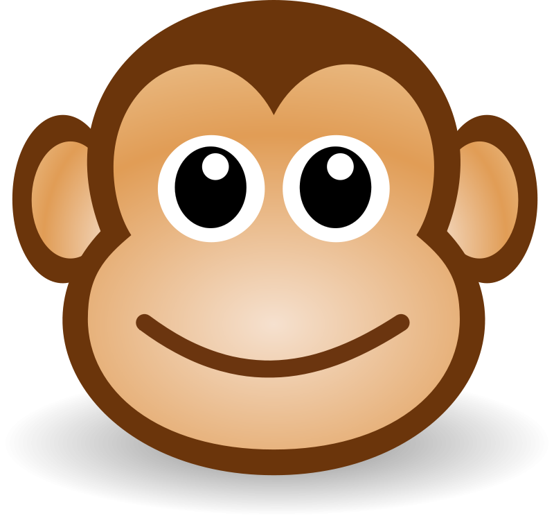 free clipart funny monkey face martouf rh 1001freedownloads com Girl Monkey Face Clip Art happy monkey face clipart