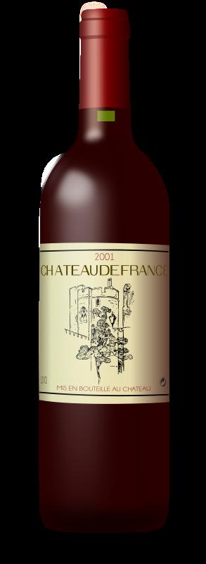 Free French Wine Bordeaux Bottle