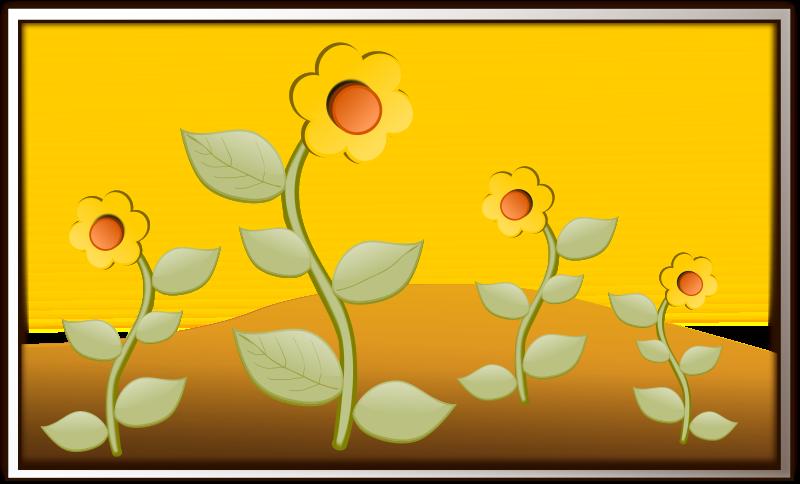 Free Clipart: Flowers in field | inky2010
