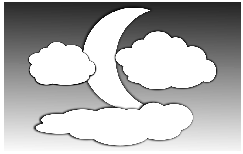 Free Clouds and the Moon 2