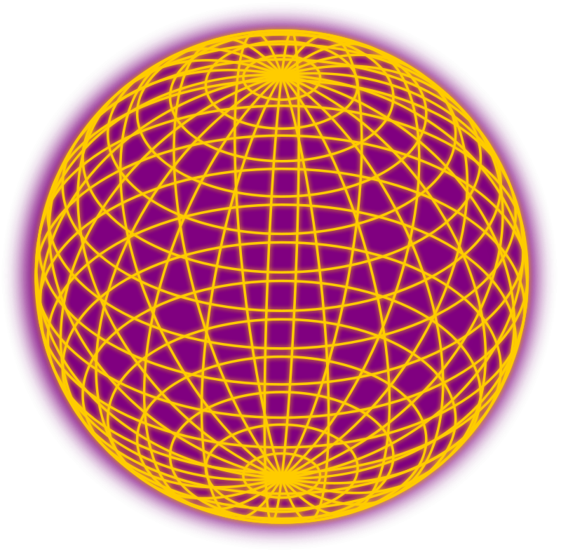 Free Red wired globe outline