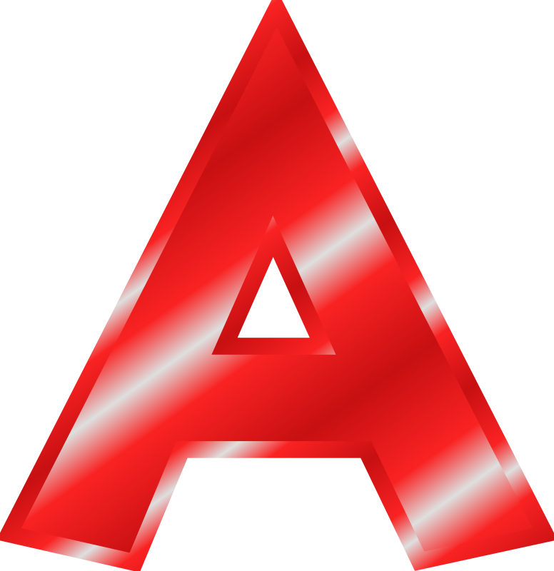 Free Effect Letters Alphabet red