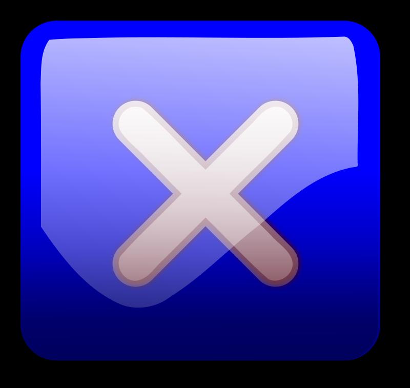 Free Close Button blue
