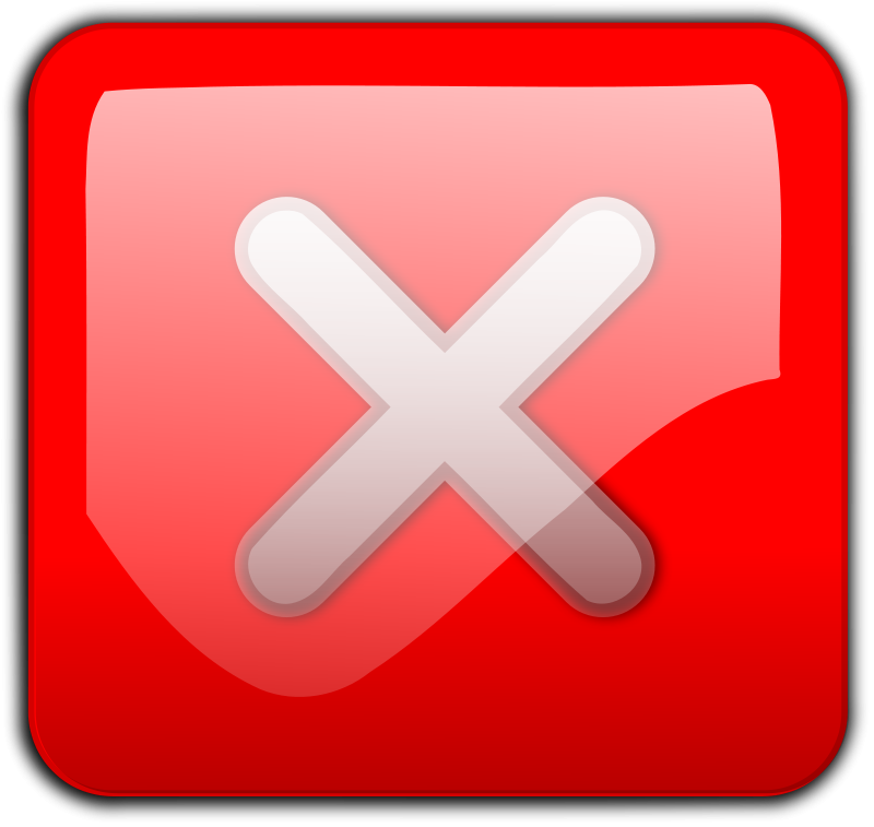 Free Close Button red