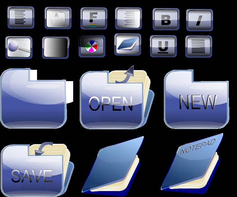 Free Bkue folder icons