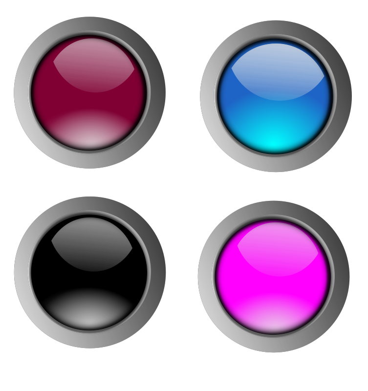 Free Round glossy buttons