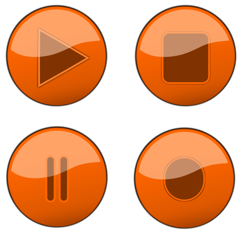 Free Orange Glossy Buttons