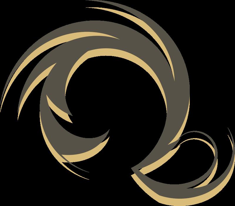 Free Clipart: Brownish swirl 3 | shokunin