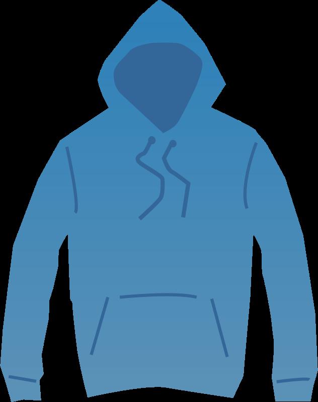 Free Clipart: Blue hoodie | shokunin