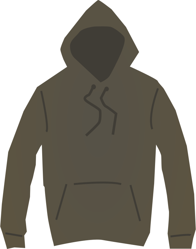 Free Brown hooded jumper
