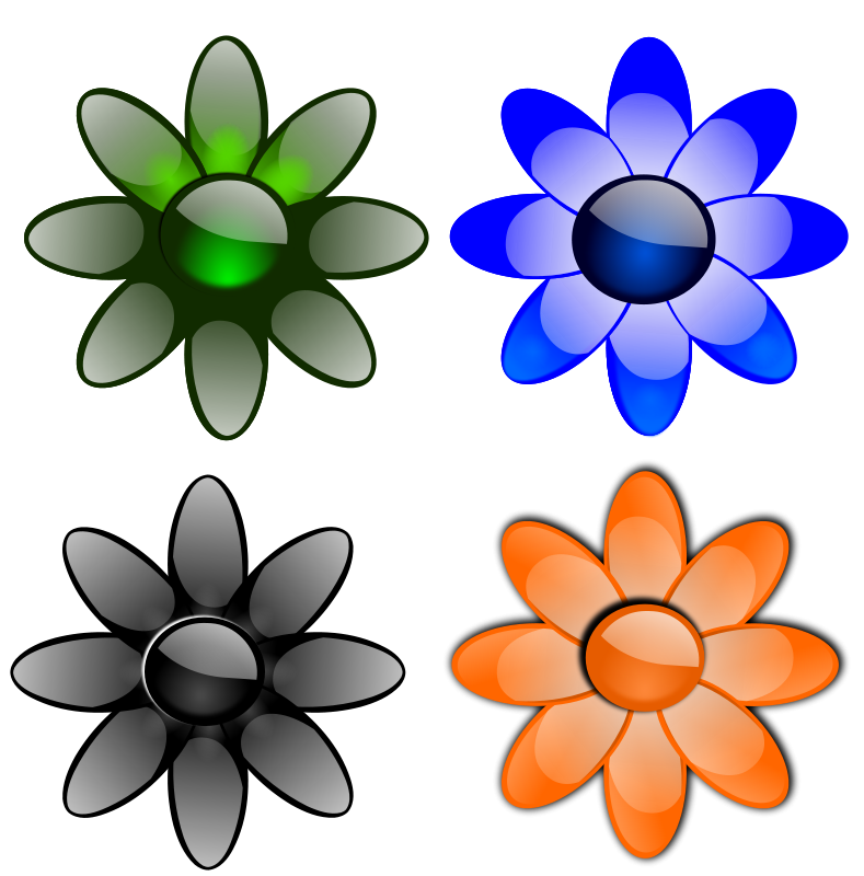 Free Glossy flowers 2