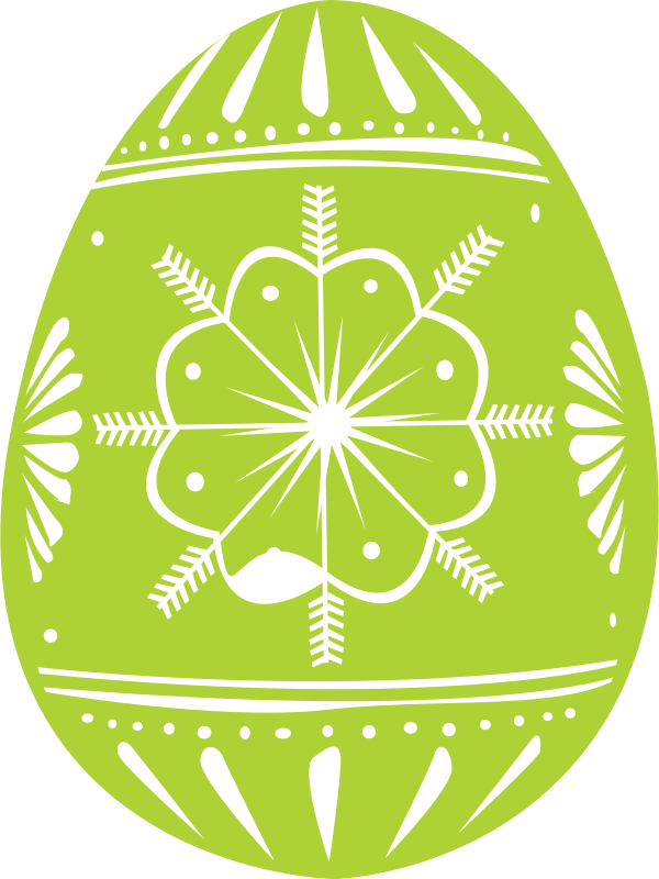 Free easter egg green