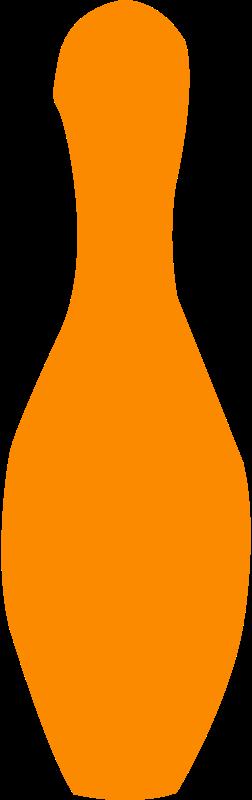 Free bowling pin orange