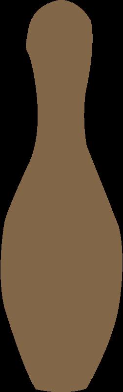 Free bowling pin brown