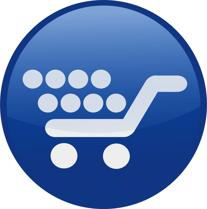 Free shopping cart-blue