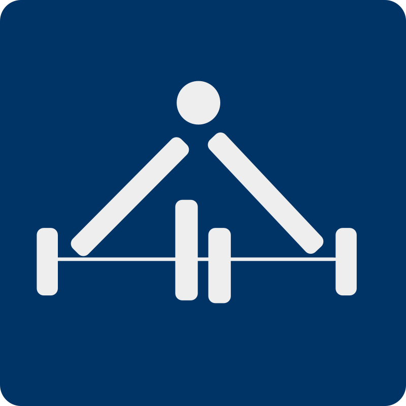Free weight lifting pictogram