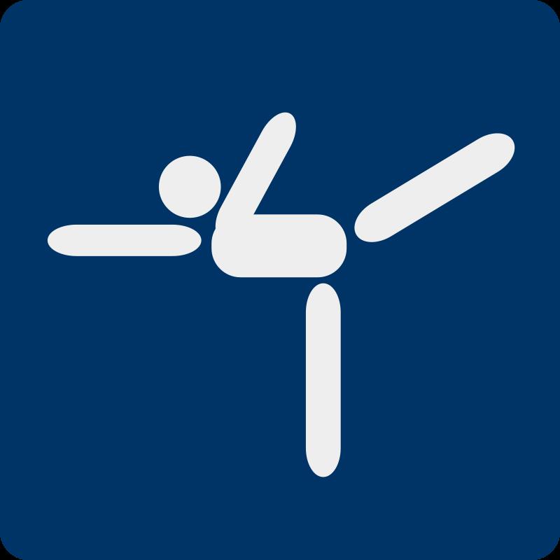 Free ice skating pictogram