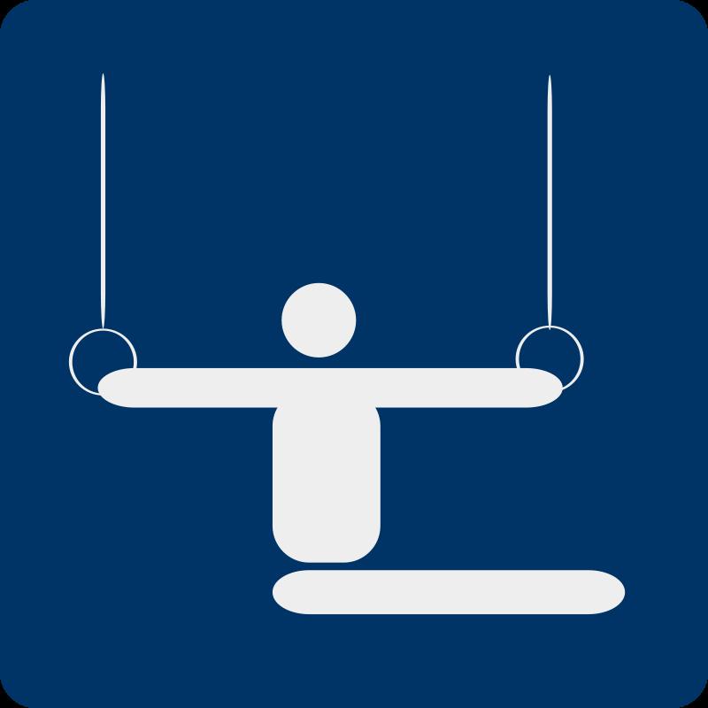 Free Clipart: Gymnastics pictogram | shokunin
