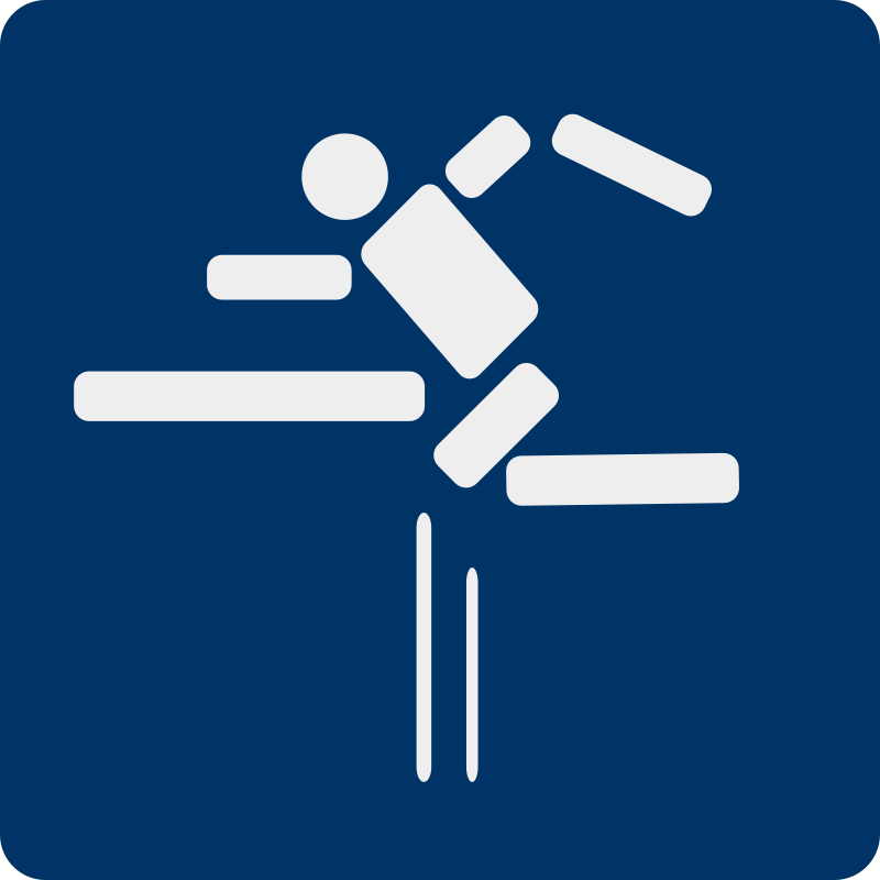 Free fence jumping pictogram