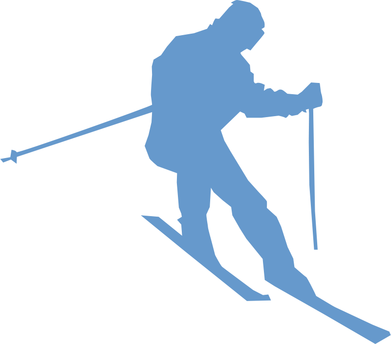 Free ski silhoette