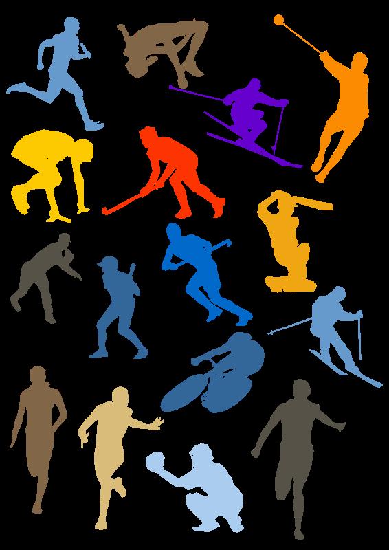 Free Silhouette Sport Disciplines Set