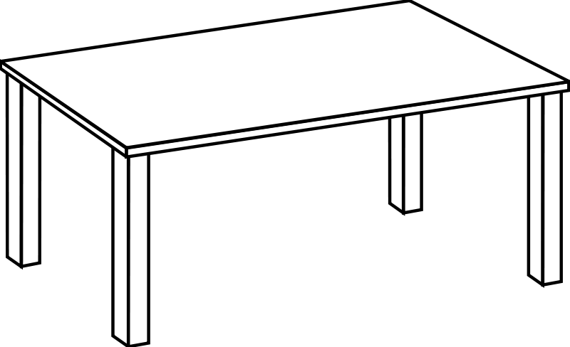 Free Table Line Art