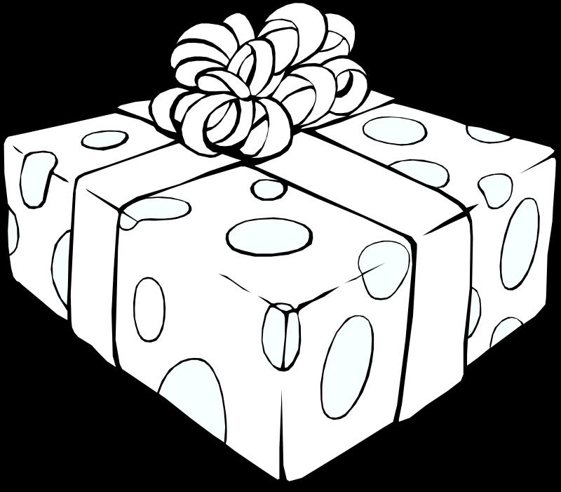 Free Gift Line Art