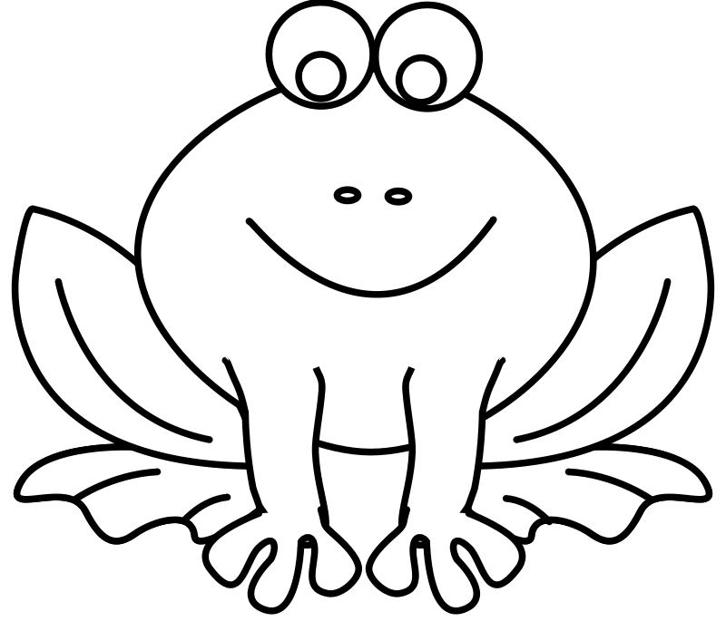 Free Frog Line Art