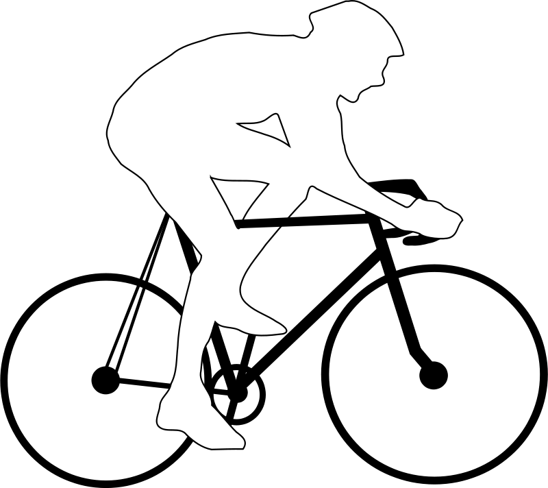 Free Cyclist silhouette