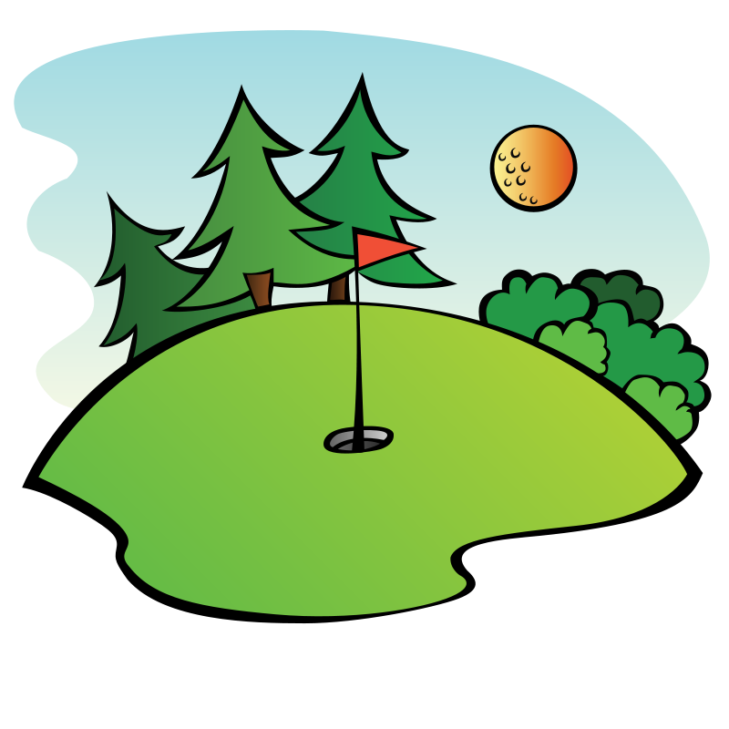 Free Clipart: Golf Course | pianoBrad Golf Hole Clip Art