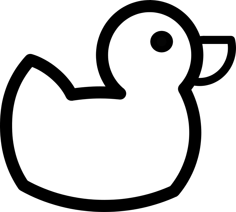 Free Duck Outline