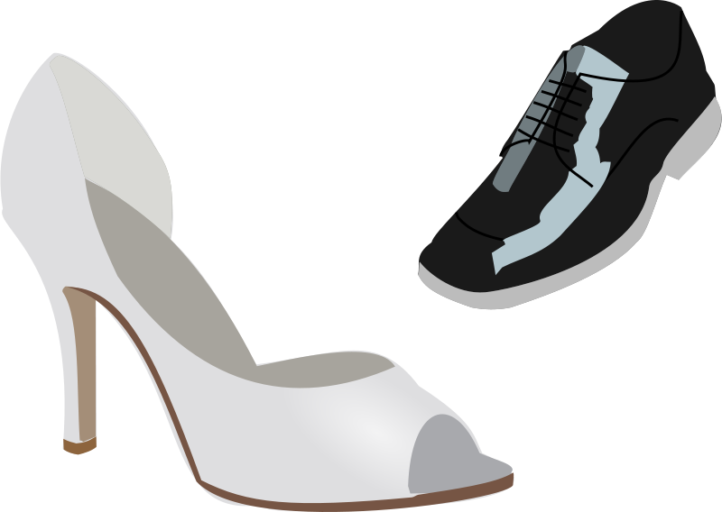 6963d2fdbb96c Free Clipart: Wedding shoes | wakro