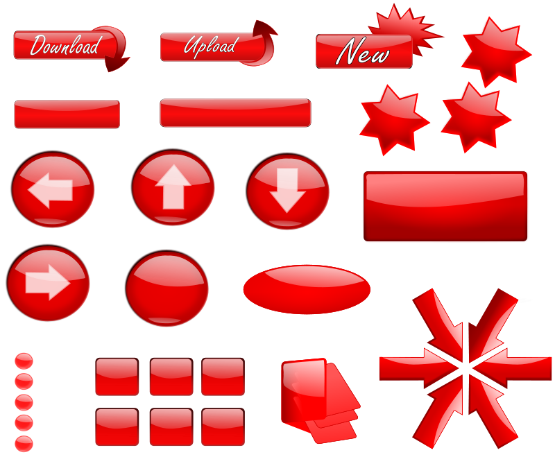 Free Red Glossy Buttons