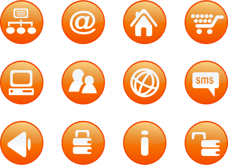 Free icons orange web candy