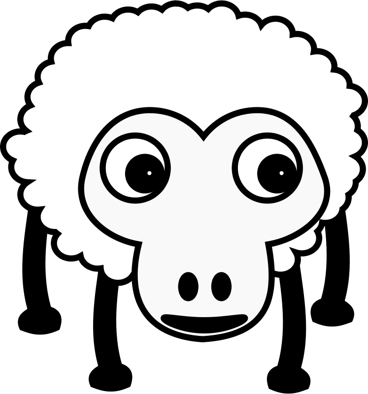 Free Clipart: Sheep001 | TomBrough