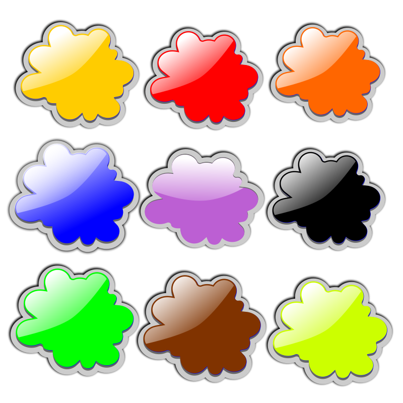 Free Glossy Clouds-3